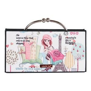 Nicole Lee Shopper Girl Hard Case Clutch